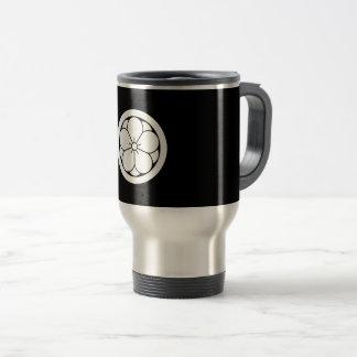 In circle eightfold plum travel mug