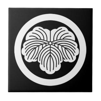 In circle ivy tile