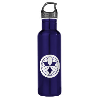 In circle nine bamboo grasses 710 ml water bottle
