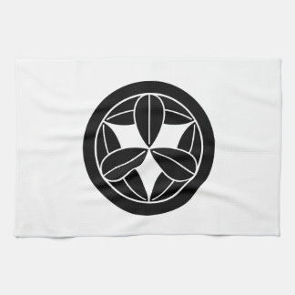 In circle nine bamboo grasses kitchen towel
