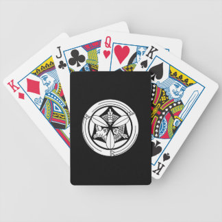 In circle of bamboo three feather sparrow bicycle playing cards