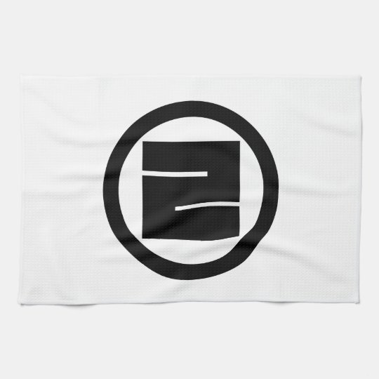In circle one angular letter towels