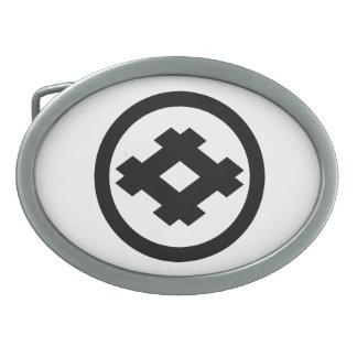 In circle parallel crosses belt buckle