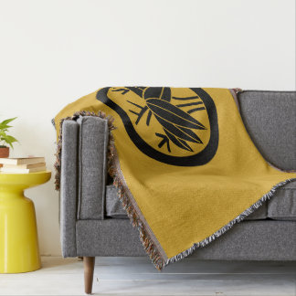 In circle root bamboo grass throw blanket
