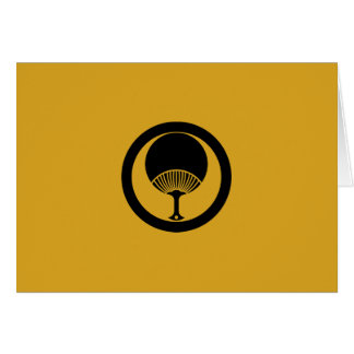 In circle round fan card