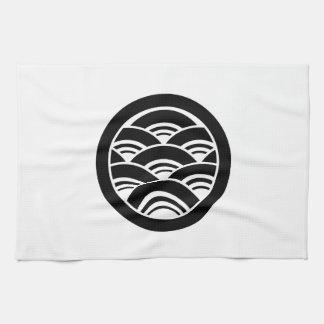 In circle Seikai wave Kitchen Towel