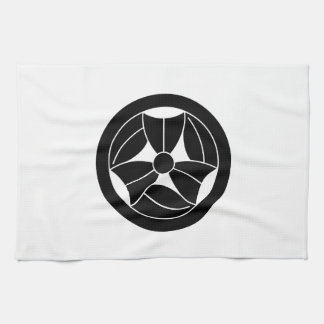 In circle three breaking bamboo grasses kitchen towel