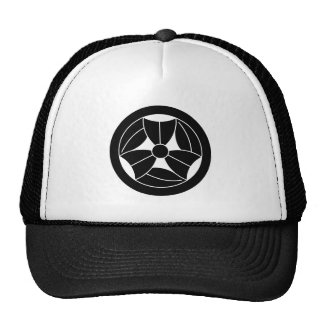 In circle three breaking bamboo grasses trucker hat