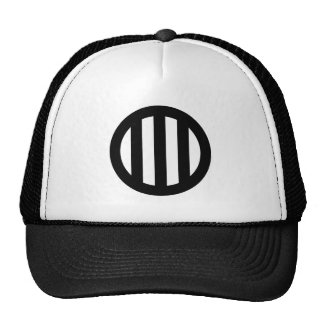 In circle vertical three pulling trucker hat