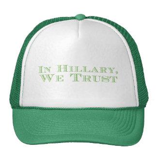 In Clinton, We Trust. Plain & Simple. Trucker Hat