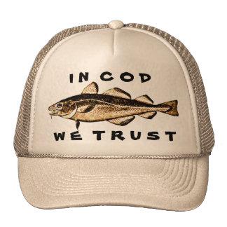 In Cod We Trust Trucker Hat