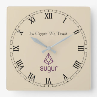 In Crypto We Trust Augur Centred Wall Clock