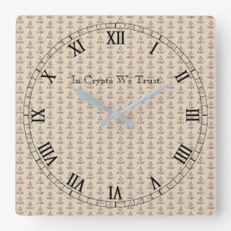 In Crypto We Trust Augur Tiled Wall Clock