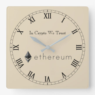 In Crypto We Trust Ethereum Centred Wall Clock V1
