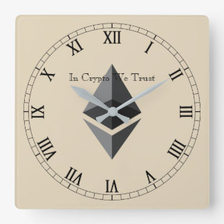 In Crypto We Trust Ethereum Centred Wall Clock V2