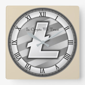 In Crypto We Trust Litecoin Centred Wall Clock