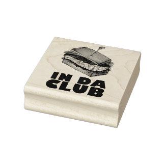 In Da Club Turkey Club Sandwich Diner Food Foodie Rubber Stamp