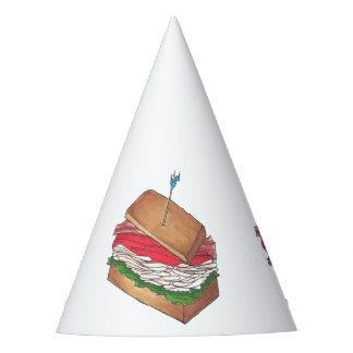 In Da Club Turkey Club Sandwich Funny Foodie Diner Party Hat