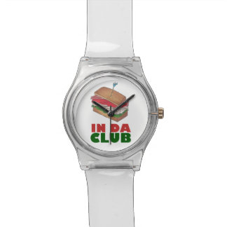 In Da Club Turkey Club Sandwich Funny Foodie Diner Watch