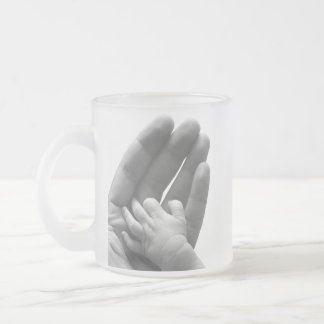 In Daddy's Hand Frosted Glass Coffee Mug