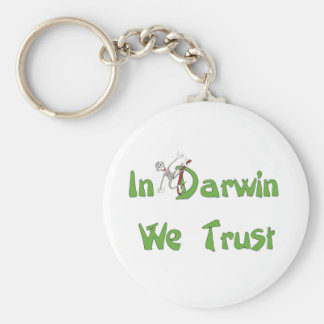 In Darwin We Trust Keychain
