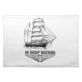 in deep water serious placemat