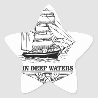 in deep water serious star sticker