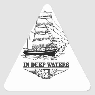in deep water serious triangle sticker