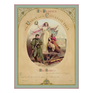In Defence of the Union and the Constitution~ 1861 Poster