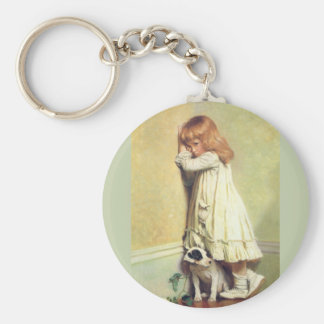 In Disgrace by Charles Burton Barber Basic Round Button Keychain
