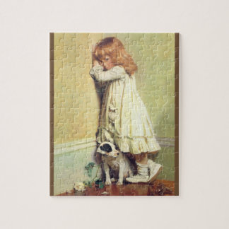 In Disgrace by Charles Burton Barber, Vintage Art Jigsaw Puzzle