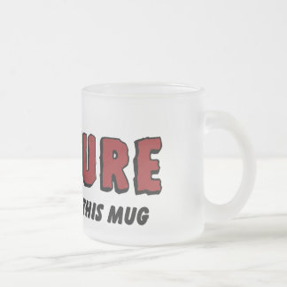 In Event of Rapture Christian Coffee Mug Frosted Glass Mug