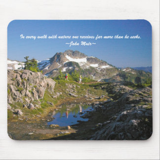 In every walk with nature one receive... mouse pad
