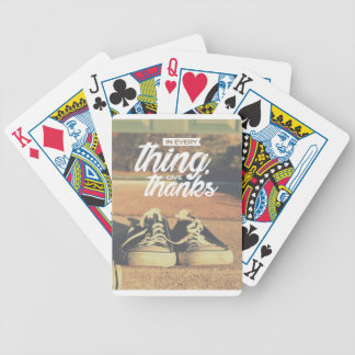 In Everything Give Thanks Bicycle Playing Cards
