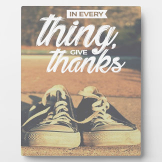 In Everything Give Thanks Plaque