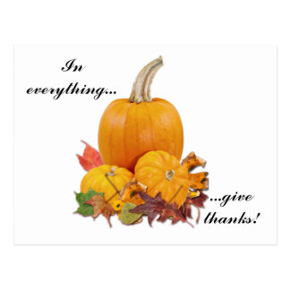 In Everything Give Thanks Post Card