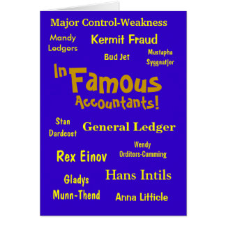 In-Famous Accountants! Card