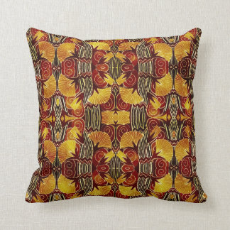 In Flames - Art Deco Pattern Throw Pillow
