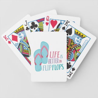 In Flip Flops Bicycle Playing Cards