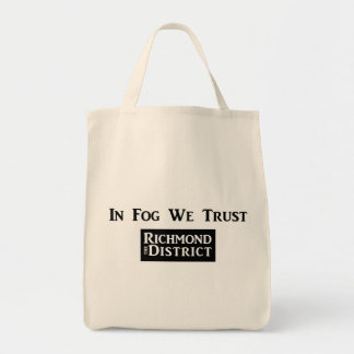 In Fog We Trust Grocery Tote