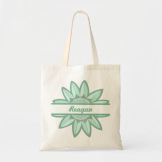 In Full Bloom Personalized Small Tote (Emerald)