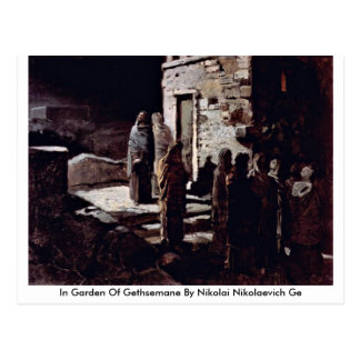 In Garden Of Gethsemane By Nikolai Nikolaevich Ge Postcard