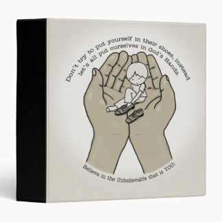 In God's Hands 3 Ring Binder