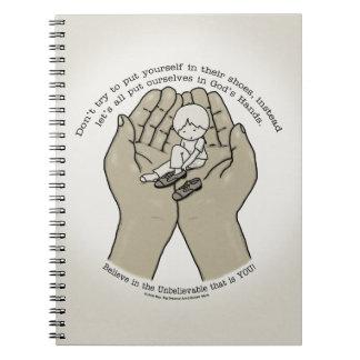 In God's Hands Spiral Notebook