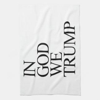 IN GOD WE TRUMP KITCHEN TOWELS