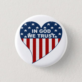 In God We Trust 1 Inch Round Button