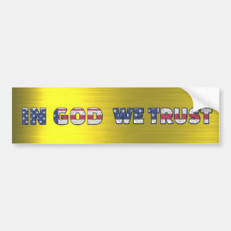 IN GOD WE TRUST BUMPER STICKER