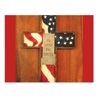 In God we trust card Postcard