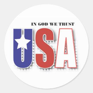 In God We Trust label Round Sticker