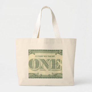 IN GOD WE TRUST LARGE TOTE BAG